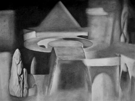 Untitled (2020), Charcaol on paper, 85.5 x 109 cm